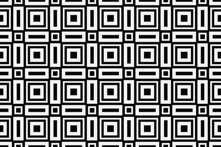 Vector luxury abstract background. Black and white geometric seamless pattern. Reklamní fotografie - 134028408