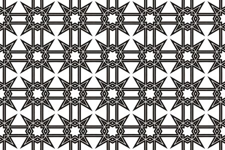 Vector luxury abstract background. Black and white geometric seamless pattern. Reklamní fotografie - 134028659