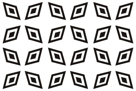 Vector luxury abstract background. Black and white geometric seamless pattern. Reklamní fotografie - 134029267