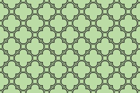 Green tones. For the interior design, printing, textile industry. Geometric pattern as seamless illustration