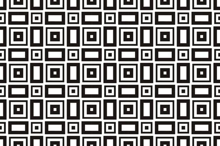 Vector luxury abstract background. Black and white geometric seamless pattern. Reklamní fotografie - 134029688