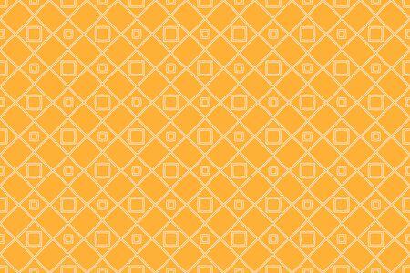 Orange color geometry seamless pattern. Abstract line, shape. For design, interior, wallpaper. Vector illustration
