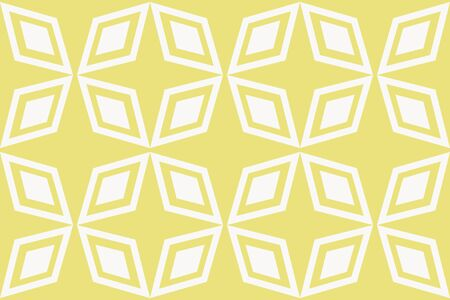 Vector luxury abstract background. Yellow color geometric seamless pattern.