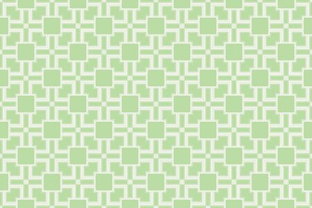 Green color geometry seamless pattern. Abstract line, shape. For design, interior, wallpaper. Vector illustration