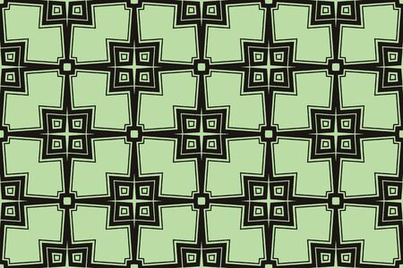Green tones. For the interior design, printing, textile industry. Geometric pattern as seamless vector illustration
