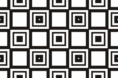 Vector luxury abstract background. Black and white geometric seamless pattern. Reklamní fotografie - 134030440