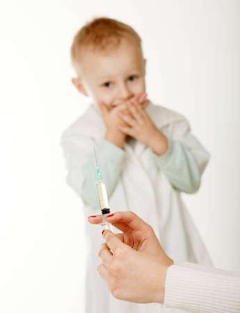 inoculation: The boy on an inoculation at the pediatrist