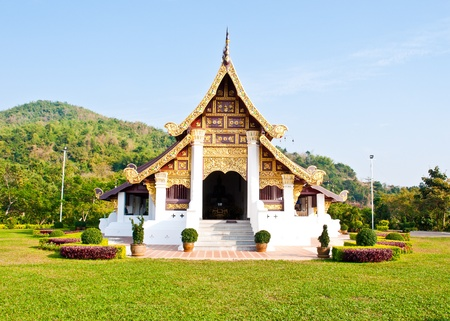 front view of thai temple in maephaluang , chiangrai Stock Photo - 9595260