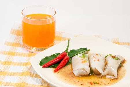 delicious kanomjeeb, thai  style dessert . Stock Photo - 9842356
