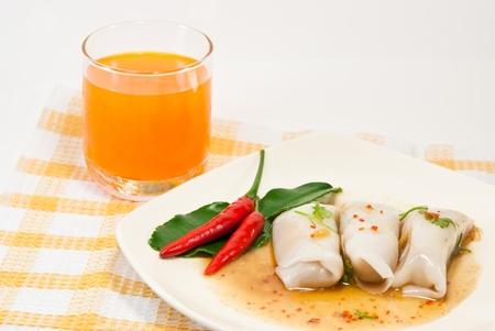 delicious kanomjeeb, thai  style dessert . Stock Photo - 9842356