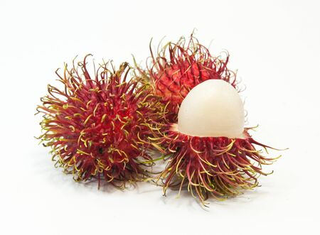 rambutan  isolated on white. Reklamní fotografie