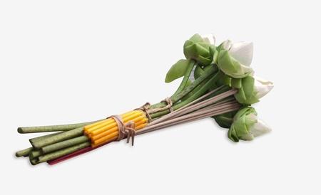 Flower  for buddhist religious ceremony . Stock Photo