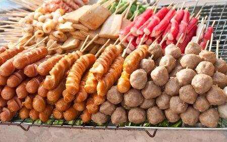Thai sausage made from pork. photo