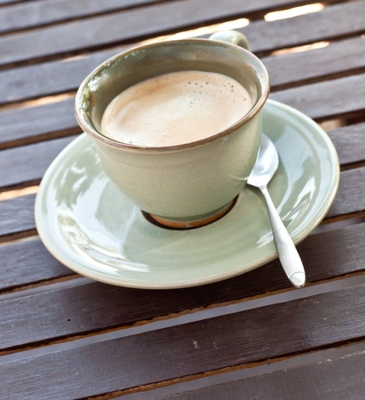 Coffee cup on wood  table Stock Photo - 12063034