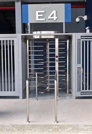 baseball stadium: football  Stadium gate for  exit