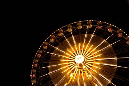 Ferris wheel at the fair ground at night