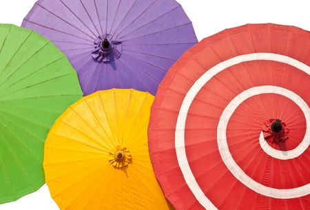 patern of color  paper umbrellas.