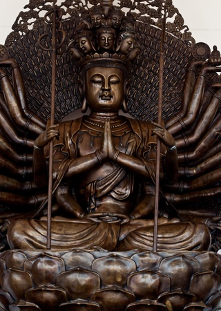 The guan yin buddha statue. Stock Photo - 12933348