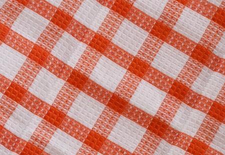 dishcloth: Table napkin  isolated against a white background Stock Photo