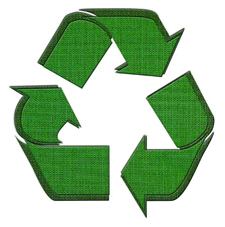 Recycle Logo From fabric textile  Stock Photo - 13586581