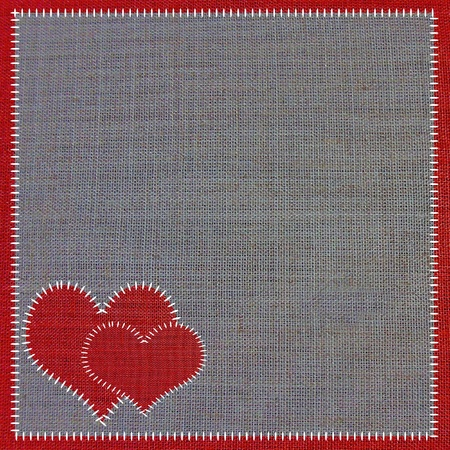 sewing fabric background of love Stock Photo - 13586587