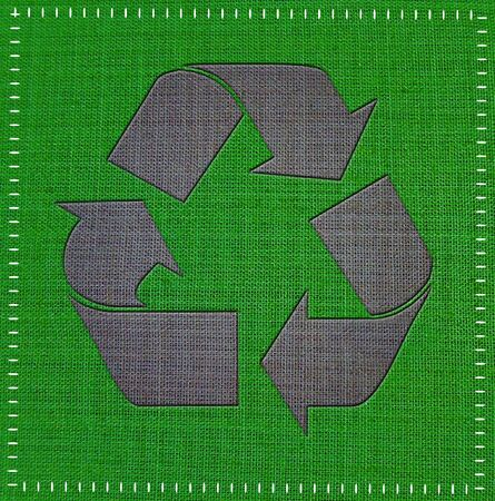 Recycle Logo From fabric textile  photo