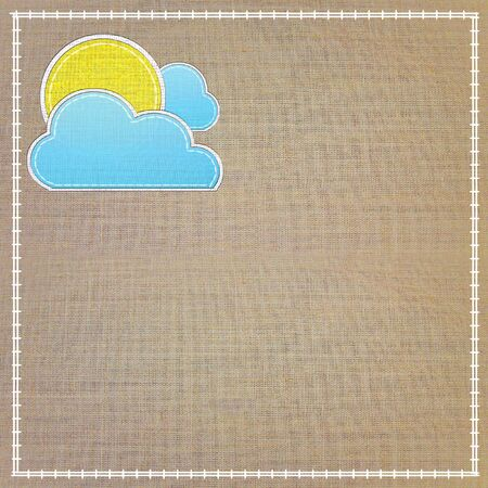 Set of weather forecast icon in fabric style . Stock Photo - 13707120