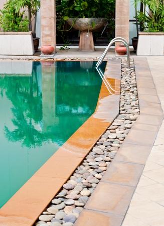Beautiful swimming pool in spa resort Chiangmai, Thailand.