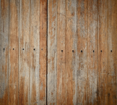 close up of  the tack  in grunge wood texture  background   photo