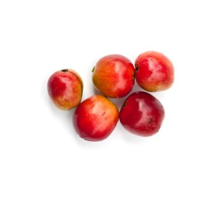 materia prima: granos de caf� sobre fondo blanco