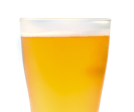Close-up  glass of light beer  background. photo