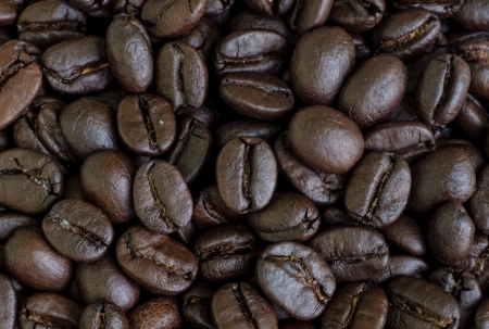 closeup of coffee beans seed  background  photo
