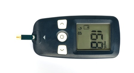 Glucometer for measure glucose in blood.