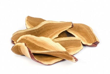 Piece of dry Ling Zhi Mushroom on white background. Reklamní fotografie - 22830694