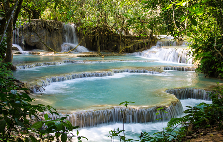 Tad Kwang Sri Waterfall, this waterfall was considered to be the most beautiful waterfall in Asia. photo