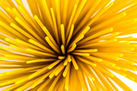 Background of uncooked italian spaghetti Noodles . photo