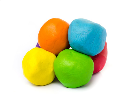 ball of plasticine on white background