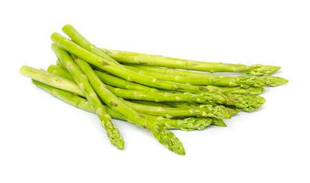 Fresh green asparagus on white background. photo
