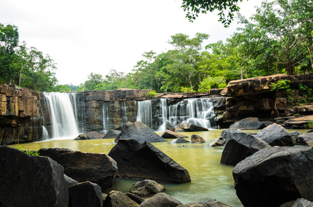 Tad tone waterfall at Chaiyaphum in Thailand.
