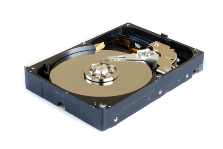 terabyte: hard disk drive isolated on white background.