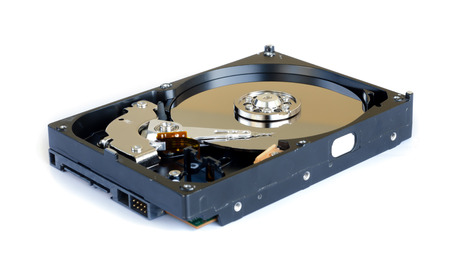 disk drive: hard disk drive isolated on white background.