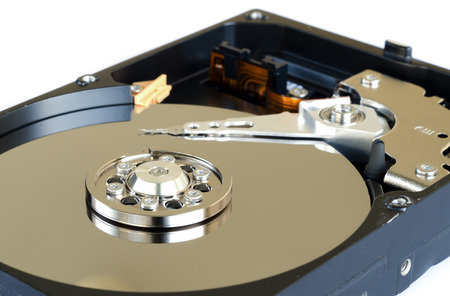 hard disk drive: hard disk drive isolated on white background.