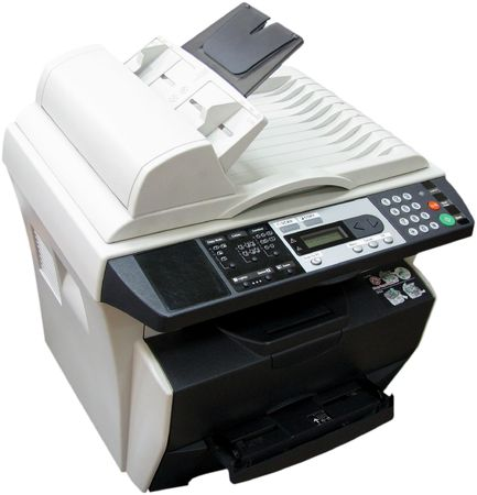 Isolated photo of multi-functional device (copier+printer+scanner)