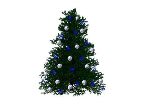 Christmas tree created with 3d studio max and rendered. Stock Photo
