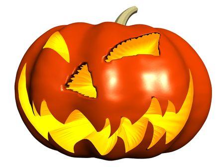 horrify: Halloween pumpkin Stock Photo