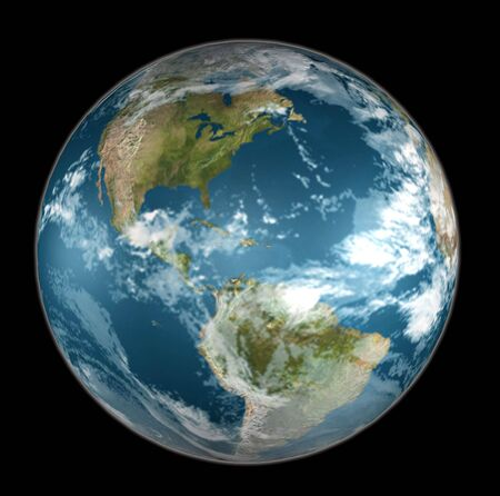 Earth On Black Stock Photo