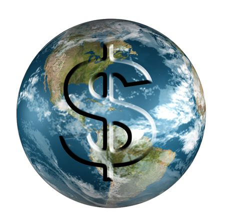 money cosmos: Earth With Dollar