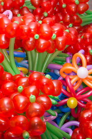 Colorful  flowers maden of baloons background Stok Fotoğraf - 26158190