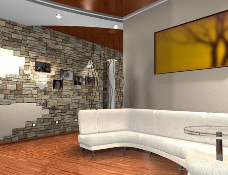establishes: Modern interior of a hall