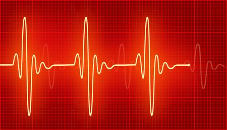 cardioid: cardiograma ondas luminosas en el rojo.